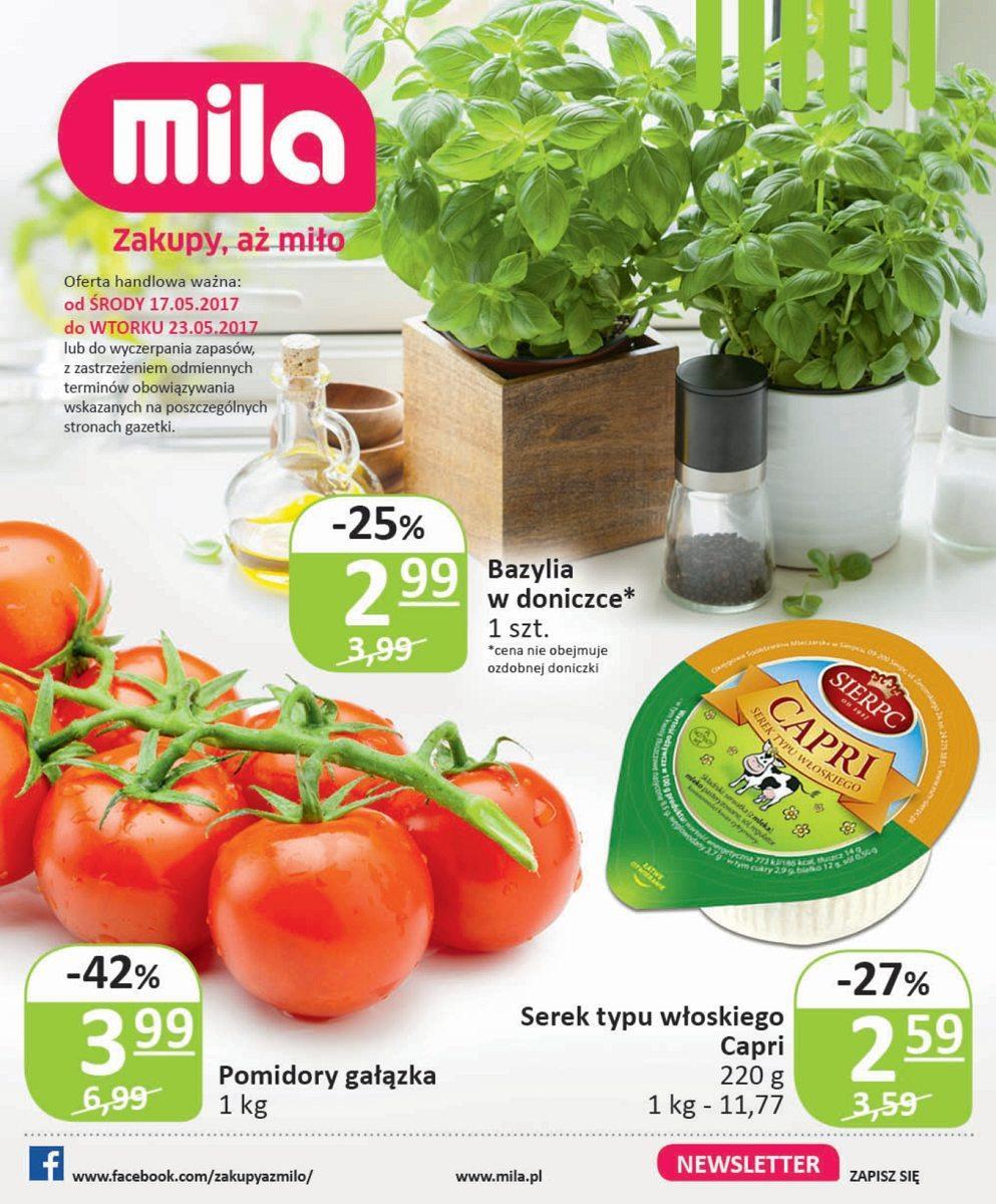Gazetka promocyjna Mila do 23/05/2017 str.0