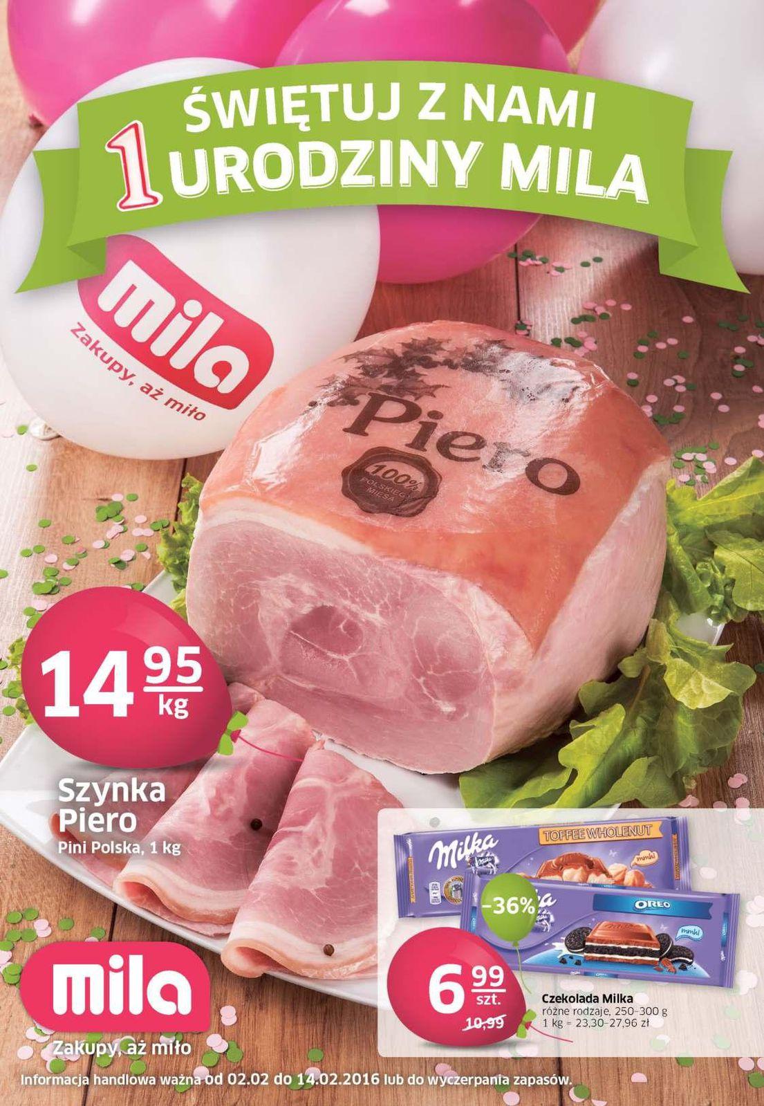 Gazetka promocyjna Mila do 14/02/2016 str.0