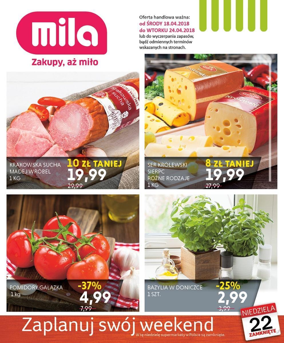 Gazetka promocyjna Mila do 24/04/2018 str.0