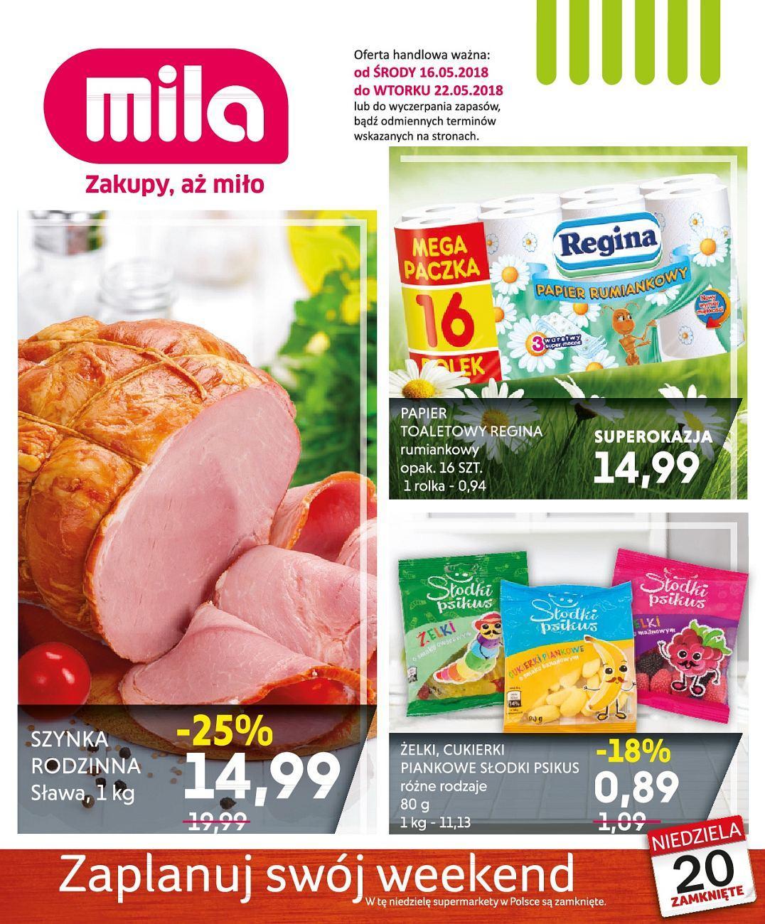 Gazetka promocyjna Mila do 22/05/2018 str.1