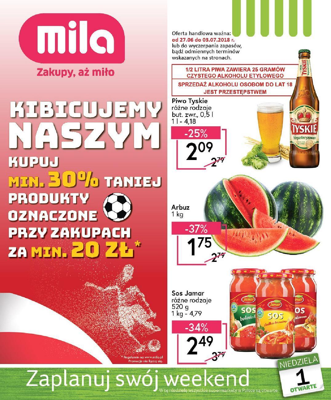 Gazetka promocyjna Mila do 03/07/2018 str.0