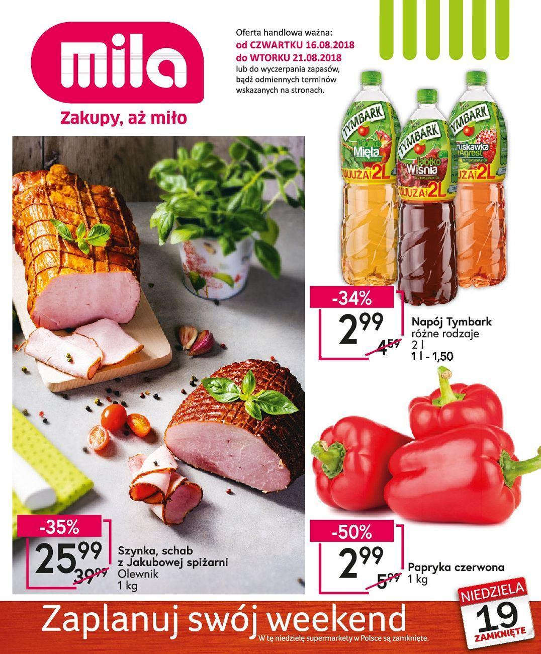 Gazetka promocyjna Mila do 21/08/2018 str.1
