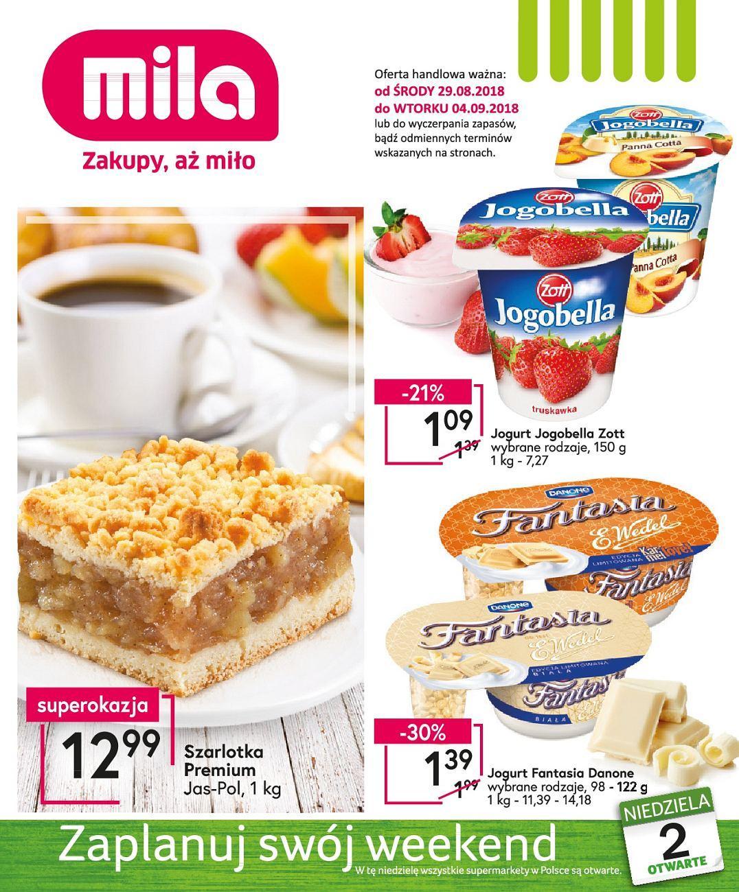 Gazetka promocyjna Mila do 04/09/2018 str.0