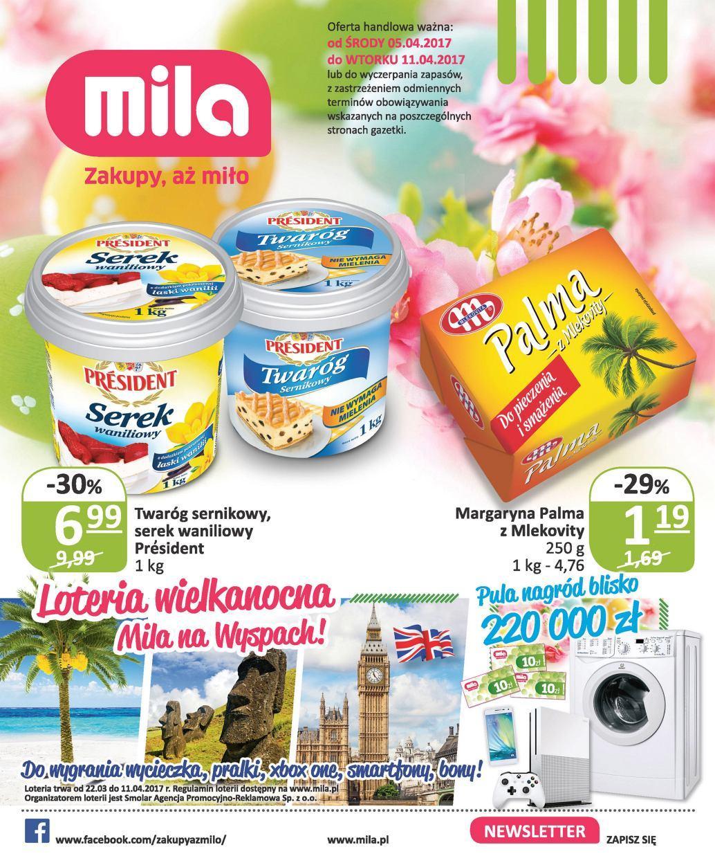 Gazetka promocyjna Mila do 11/04/2017 str.0