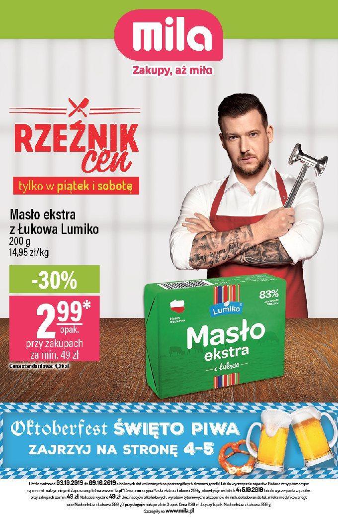 Gazetka promocyjna Mila do 09/10/2019 str.1