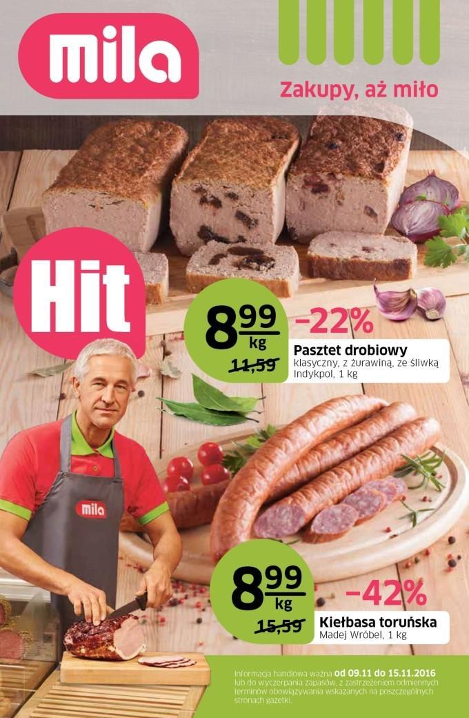 Gazetka promocyjna Mila do 15/11/2016 str.0