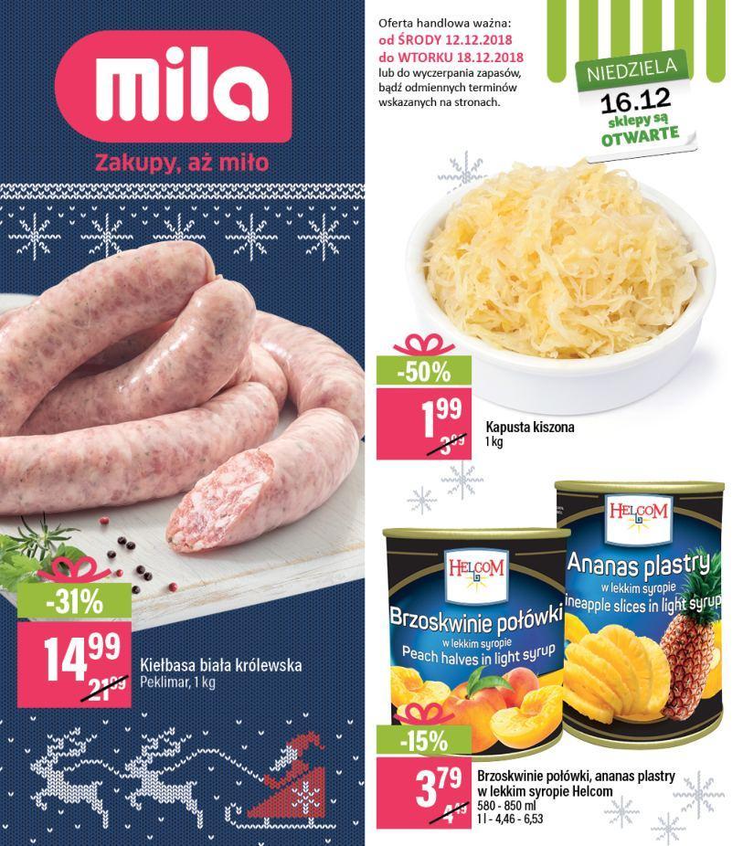 Gazetka promocyjna Mila do 18/12/2018 str.0