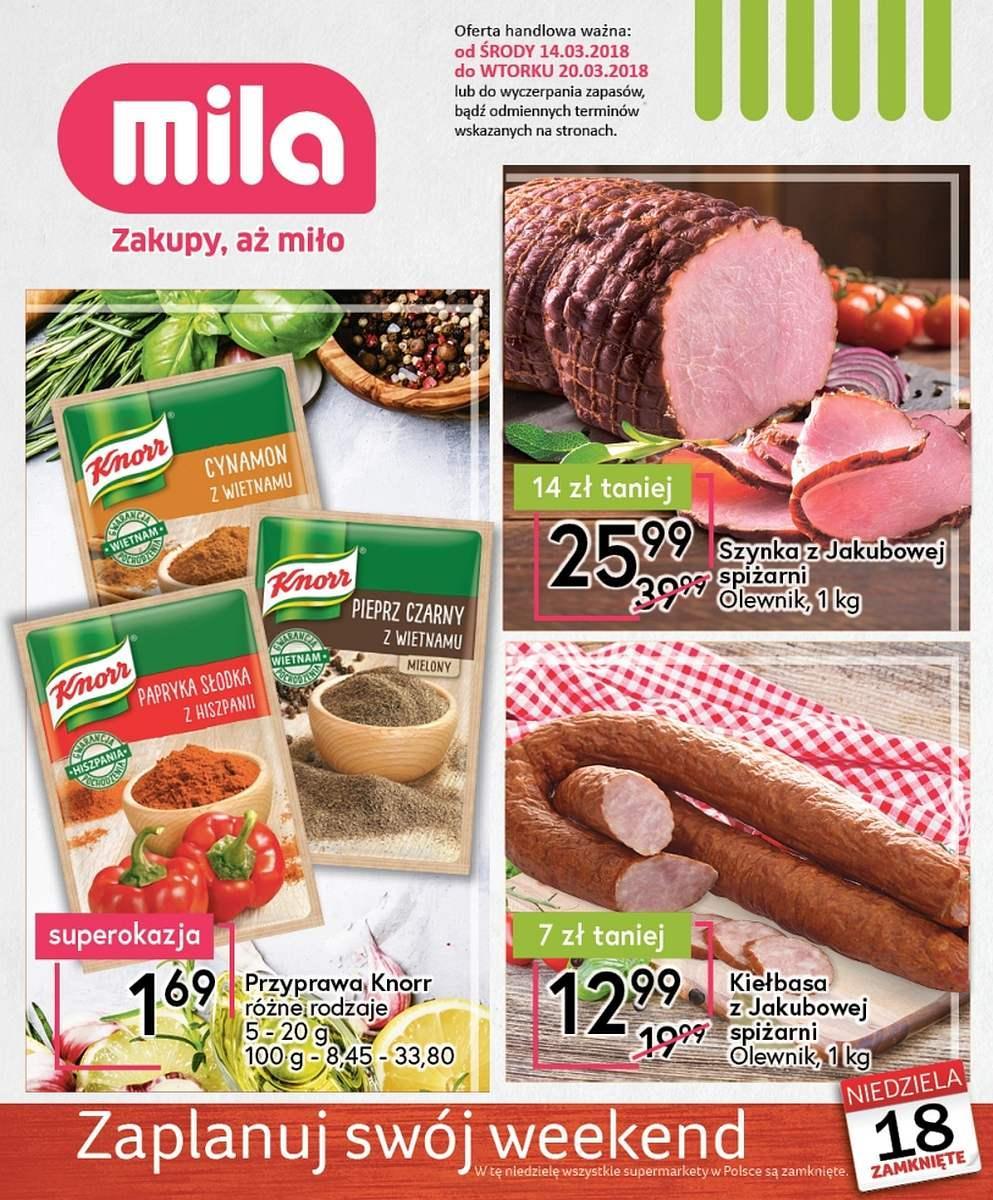 Gazetka promocyjna Mila do 20/03/2018 str.0