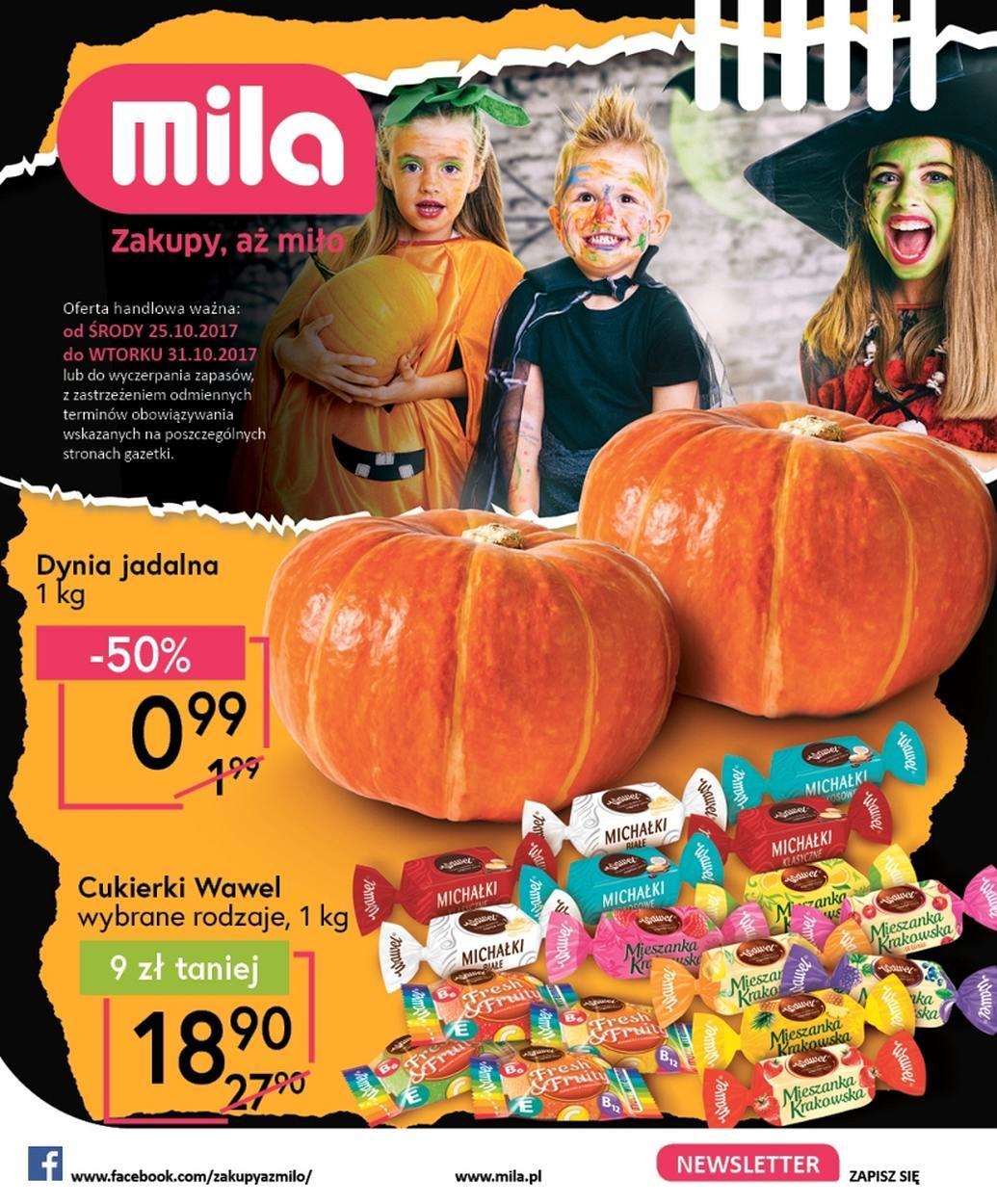 Gazetka promocyjna Mila do 31/10/2017 str.0
