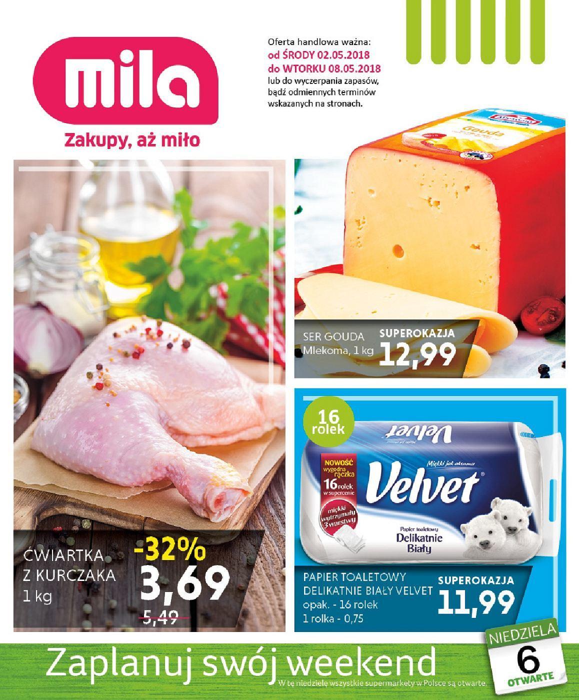 Gazetka promocyjna Mila do 08/05/2018 str.0