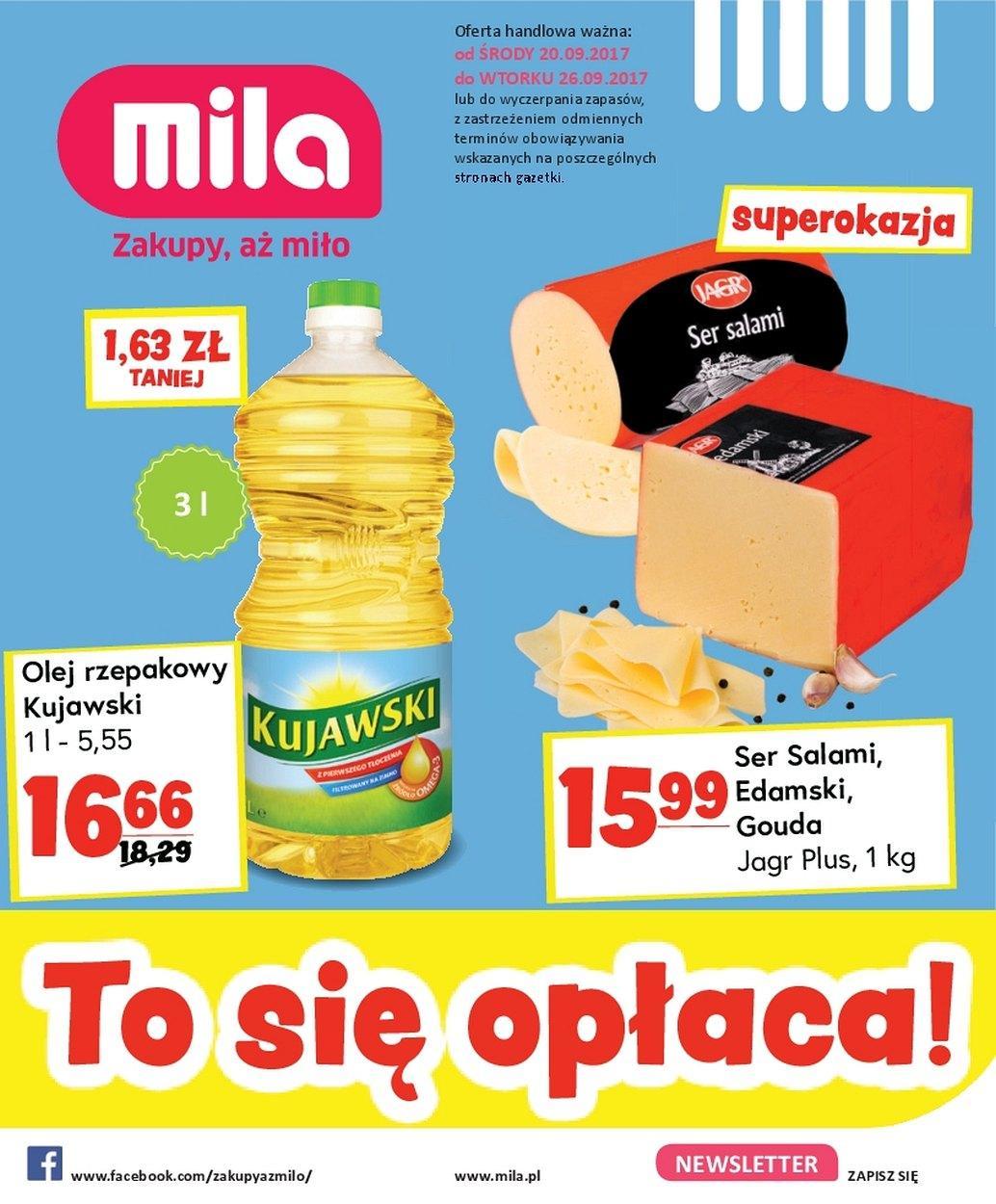 Gazetka promocyjna Mila do 26/09/2017 str.0