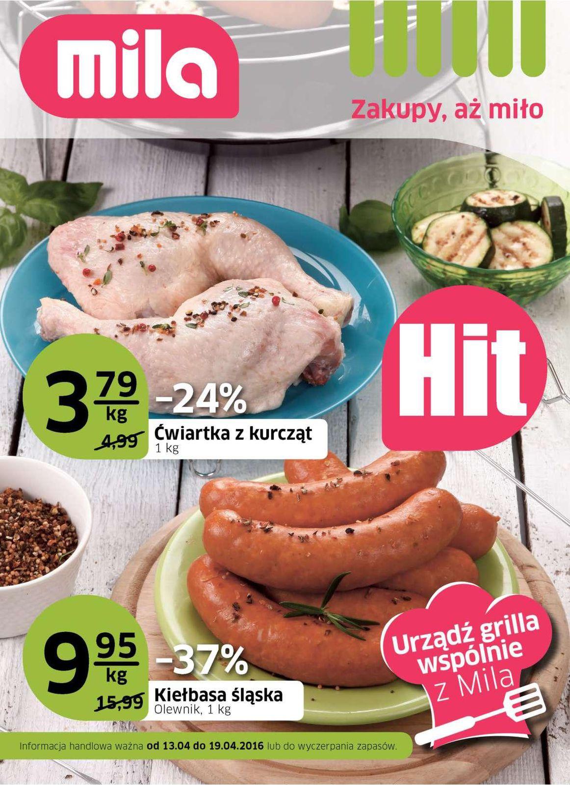 Gazetka promocyjna Mila do 19/04/2016 str.0