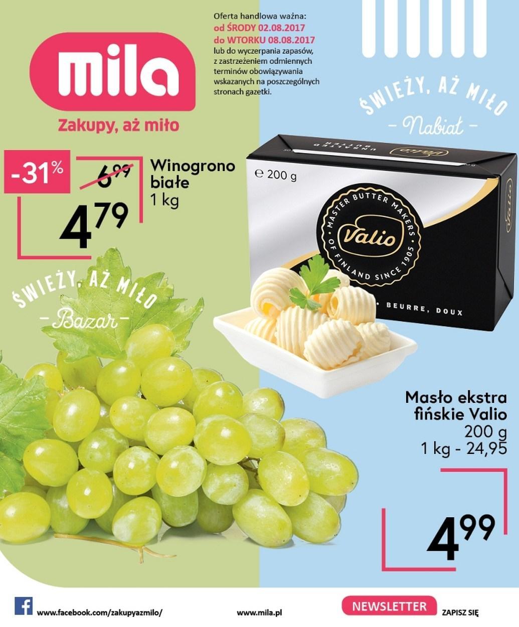 Gazetka promocyjna Mila do 08/08/2017 str.0