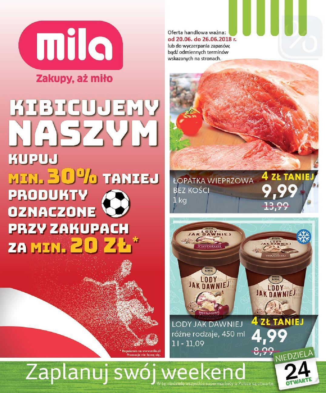 Gazetka promocyjna Mila do 26/06/2018 str.0