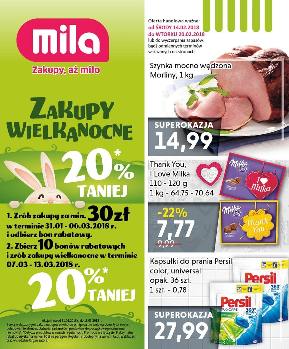 Gazetka promocyjna Mila do 20/02/2018 str.0