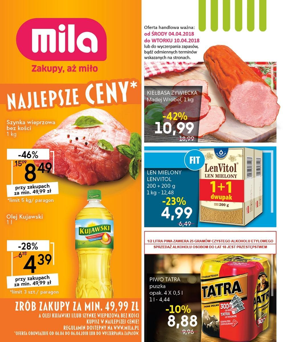 Gazetka promocyjna Mila do 10/04/2018 str.0