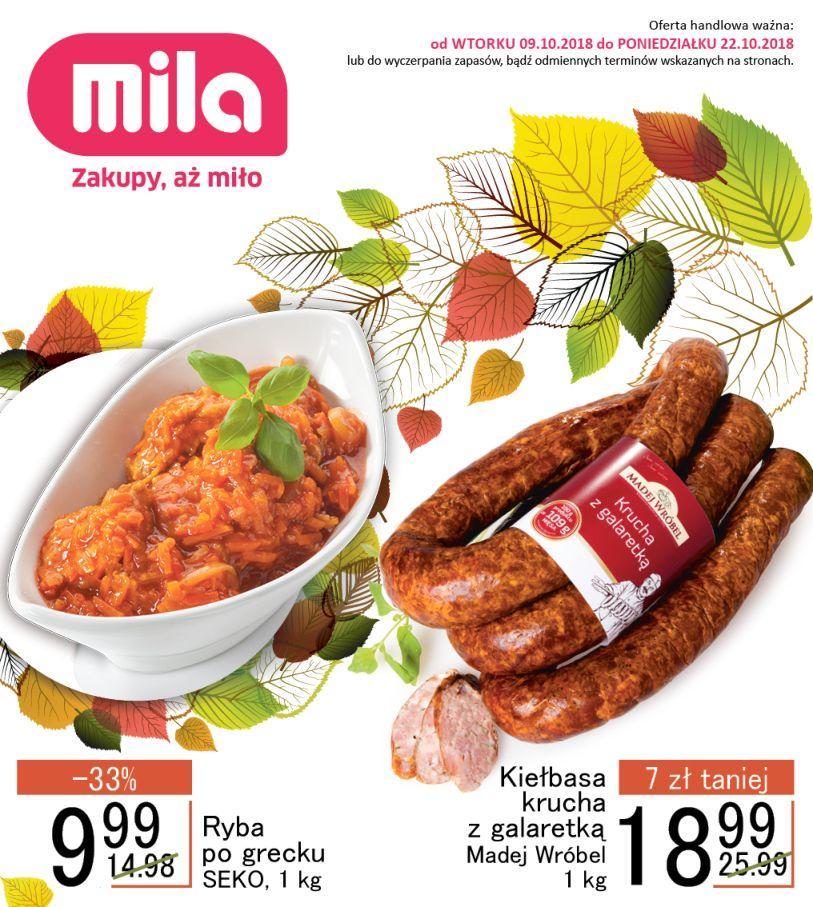 Gazetka promocyjna Mila do 22/10/2018 str.1
