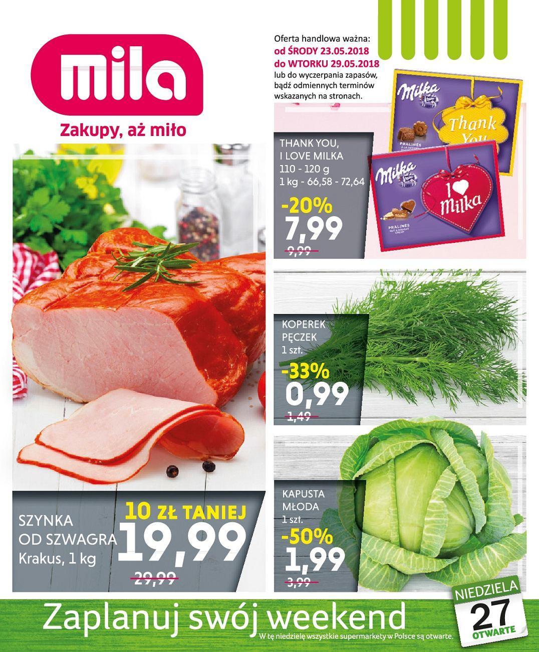 Gazetka promocyjna Mila do 29/05/2018 str.0