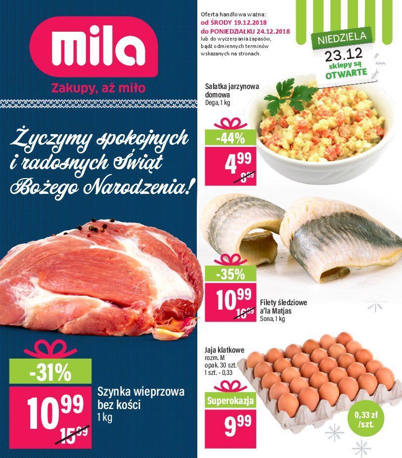 Gazetka promocyjna Mila do 24/12/2018 str.0