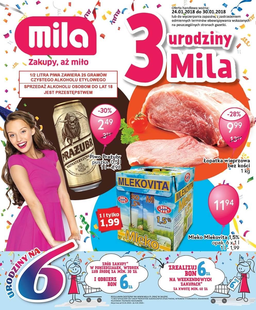 Gazetka promocyjna Mila do 30/01/2018 str.0