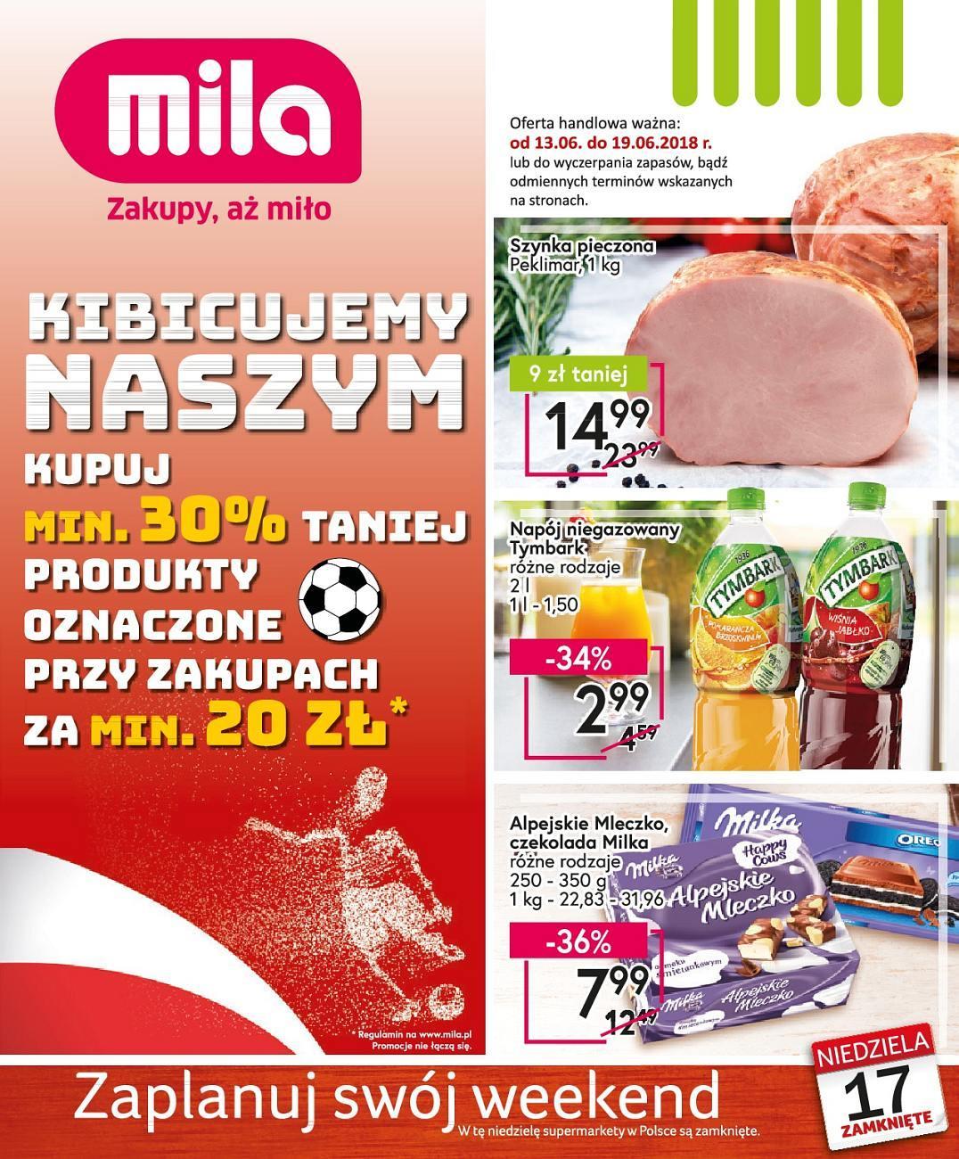 Gazetka promocyjna Mila do 19/06/2018 str.1