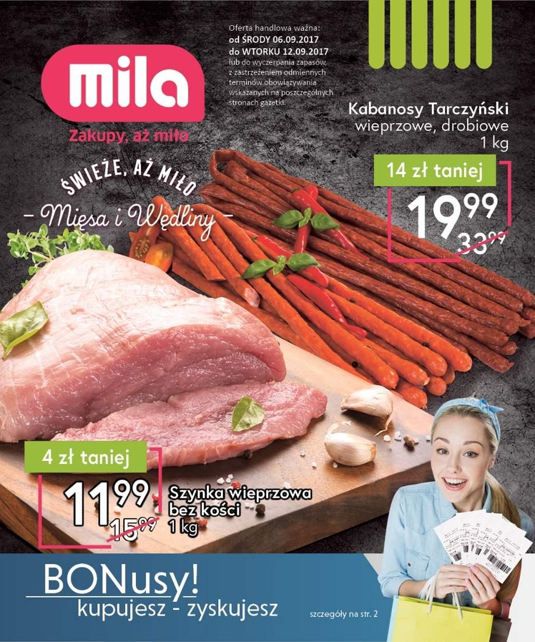 Gazetka promocyjna Mila do 12/09/2017 str.0