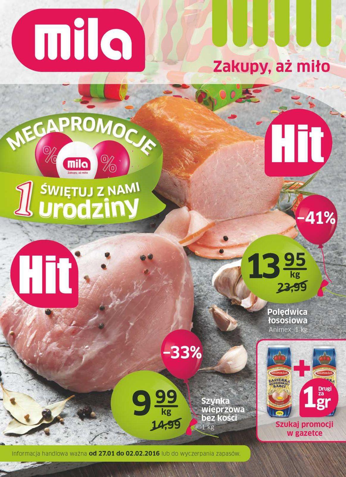 Gazetka promocyjna Mila do 02/02/2016 str.0