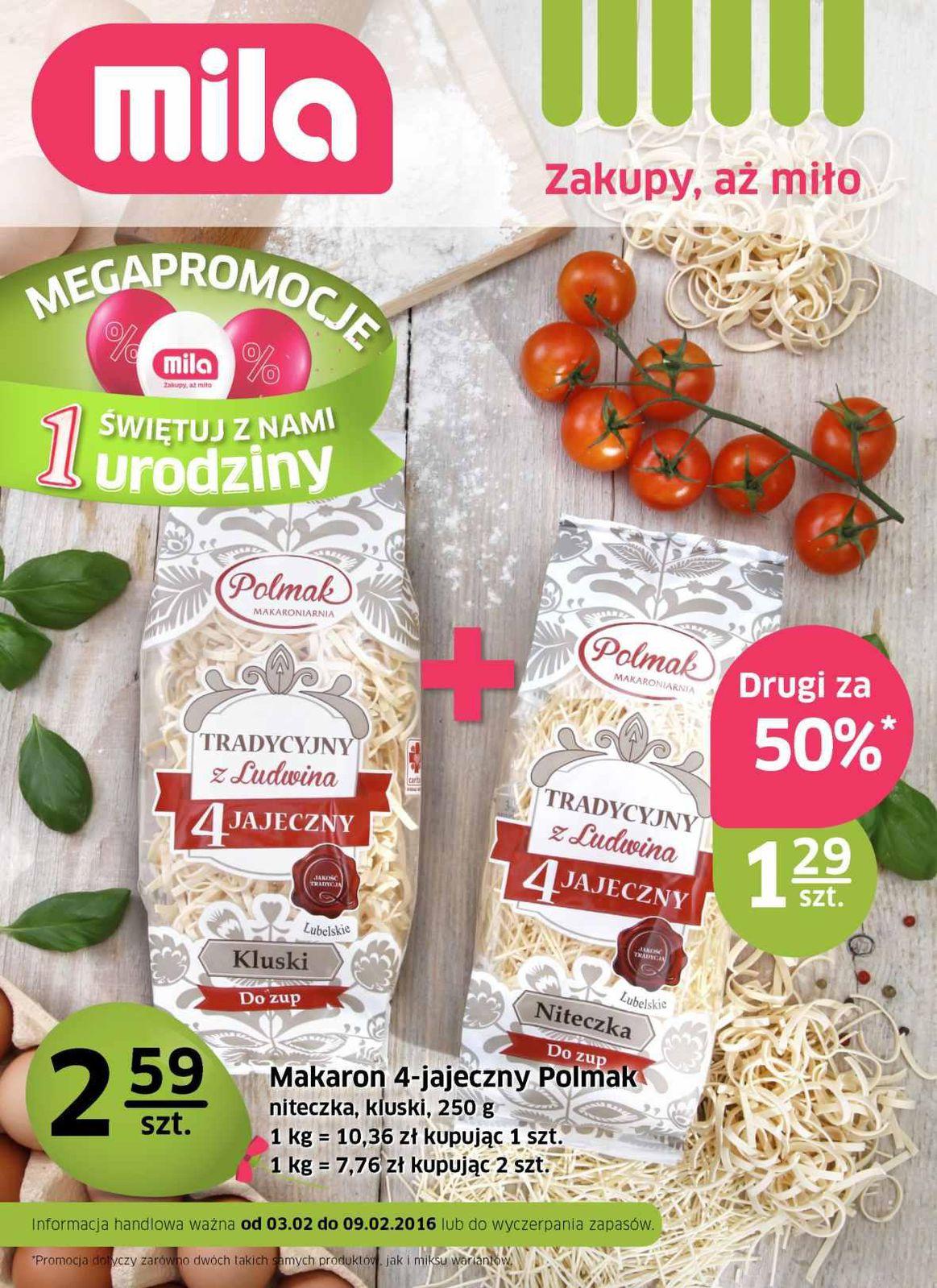 Gazetka promocyjna Mila do 09/02/2016 str.0