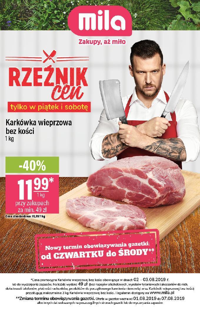 Gazetka promocyjna Mila do 07/08/2019 str.0
