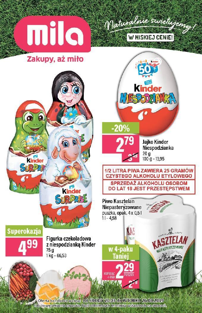 Gazetka promocyjna Mila do 26/03/2019 str.0