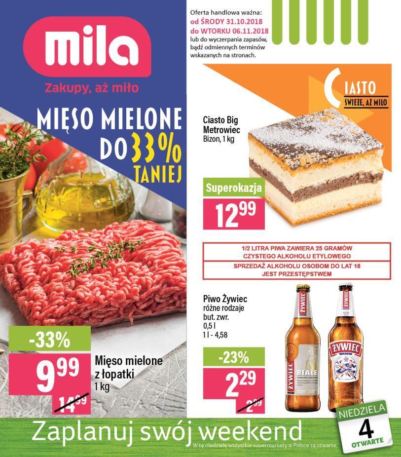 Gazetka promocyjna Mila do 06/11/2018 str.0