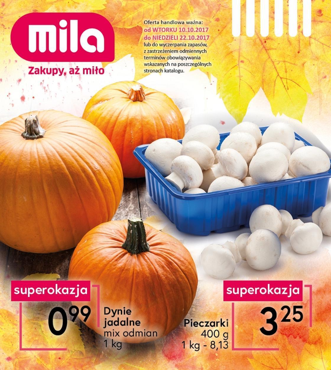 Gazetka promocyjna Mila do 22/10/2017 str.0