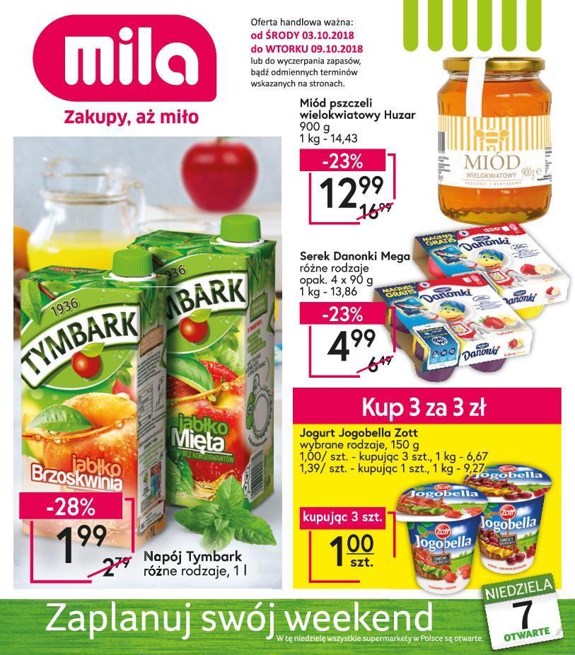 Gazetka promocyjna Mila do 09/10/2018 str.0