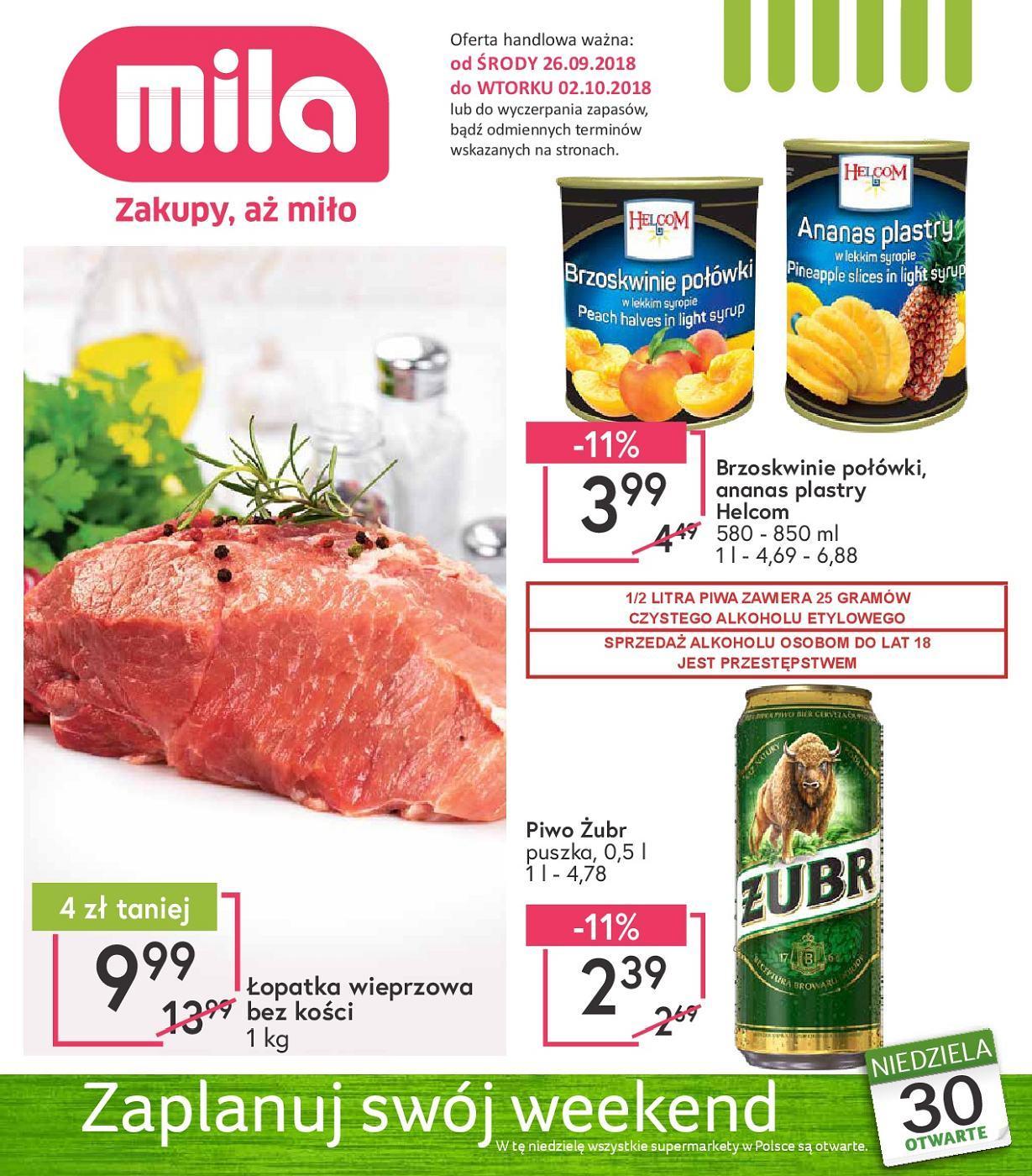 Gazetka promocyjna Mila do 02/10/2018 str.0