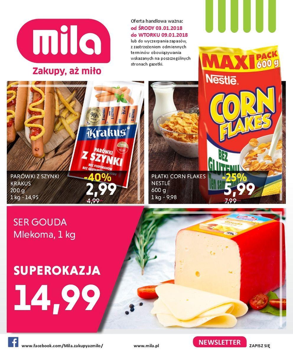 Gazetka promocyjna Mila do 09/01/2018 str.0