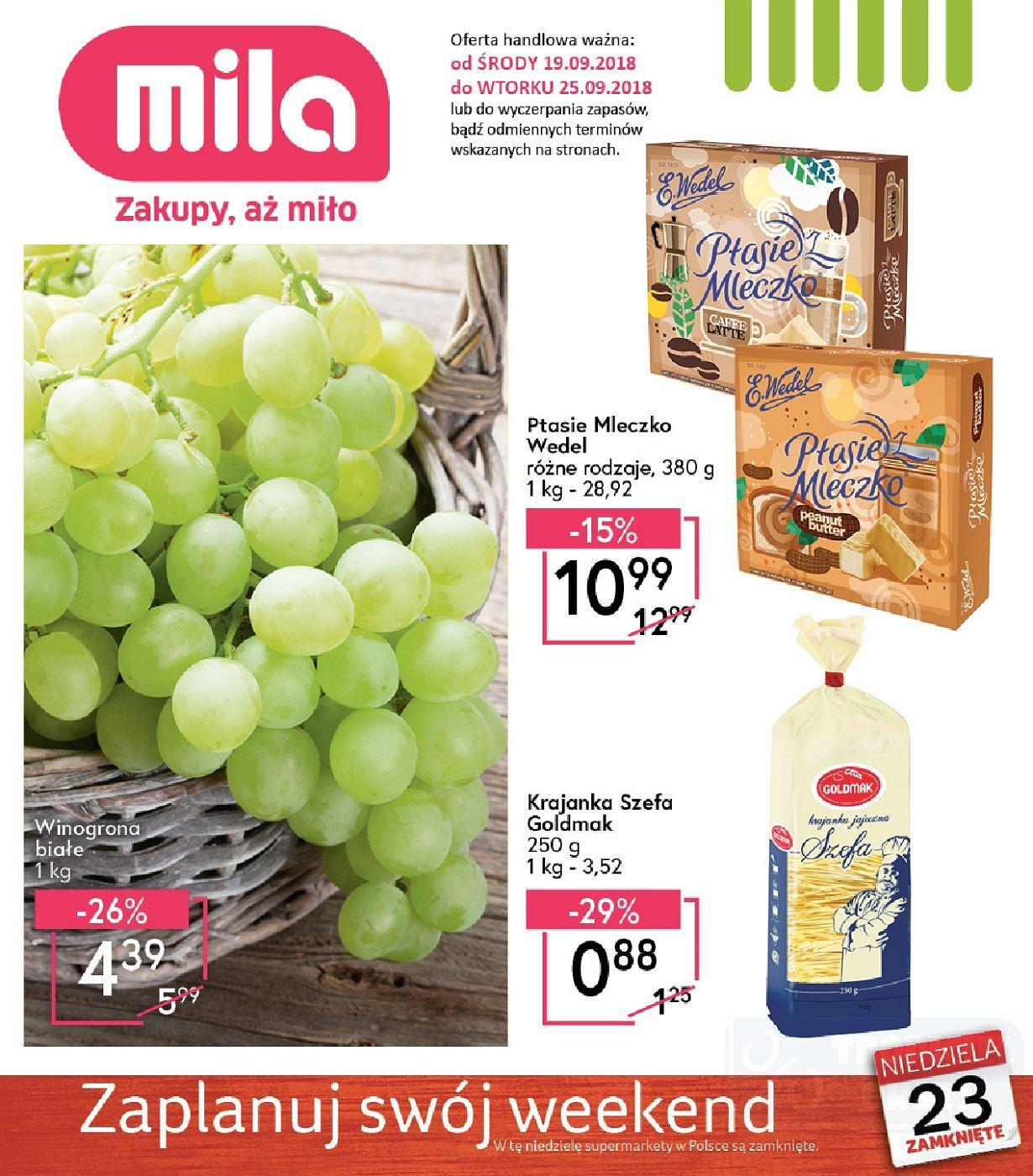 Gazetka promocyjna Mila do 25/09/2018 str.0