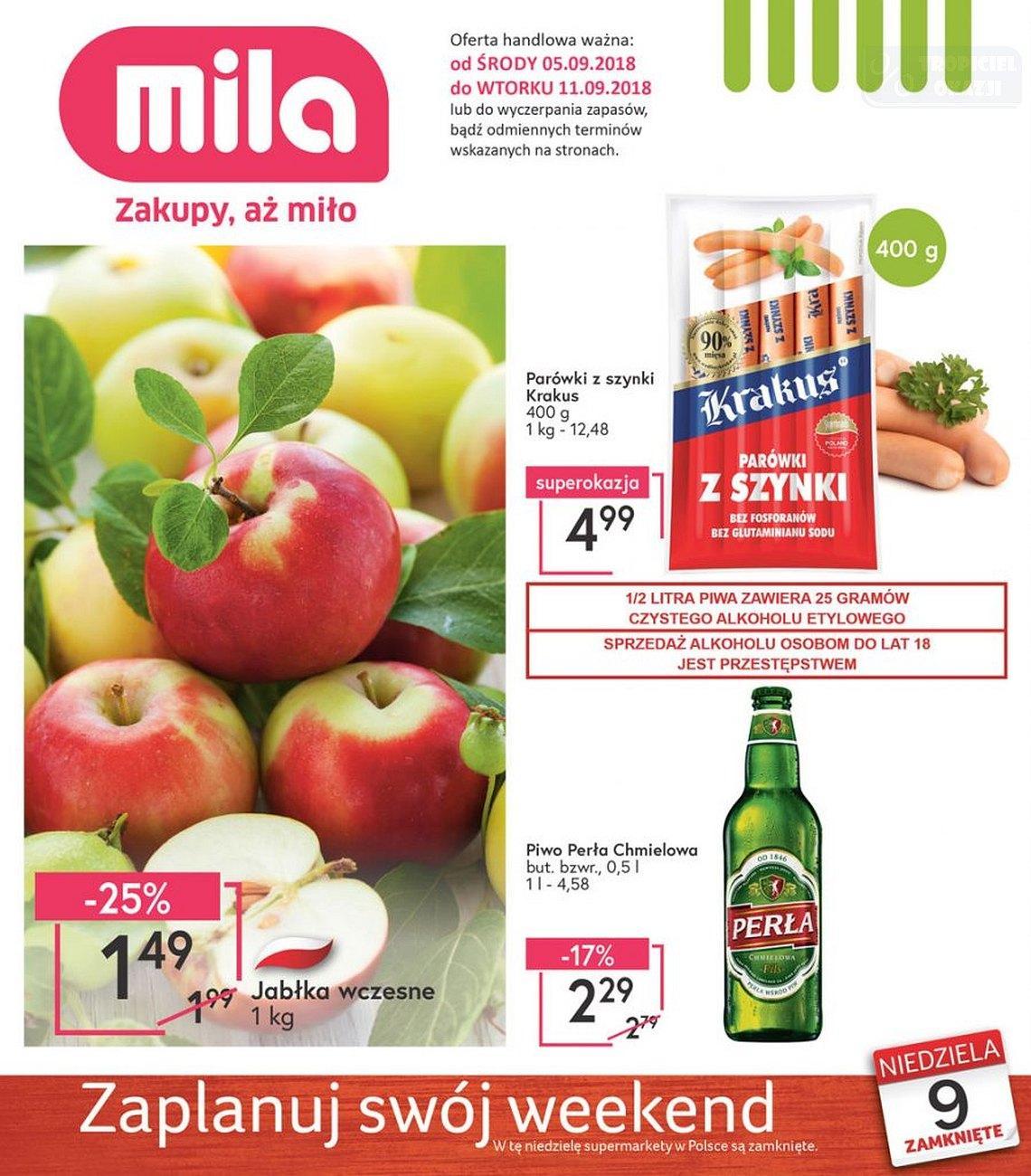 Gazetka promocyjna Mila do 11/09/2018 str.0