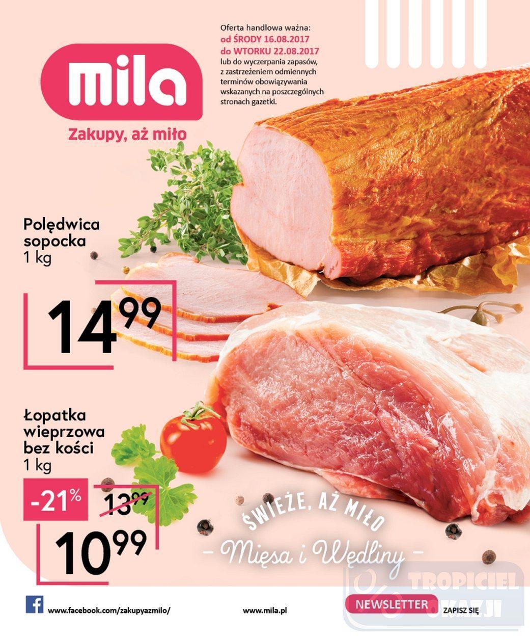 Gazetka promocyjna Mila do 22/08/2017 str.0