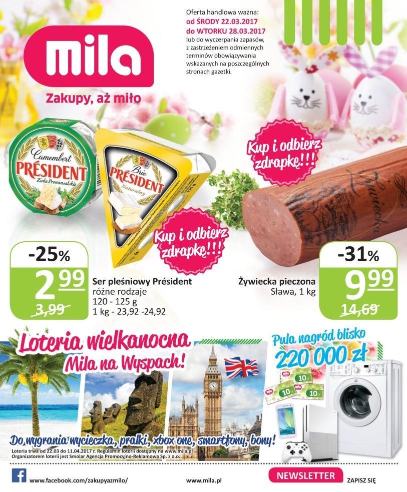 Gazetka promocyjna Mila do 28/03/2017 str.0