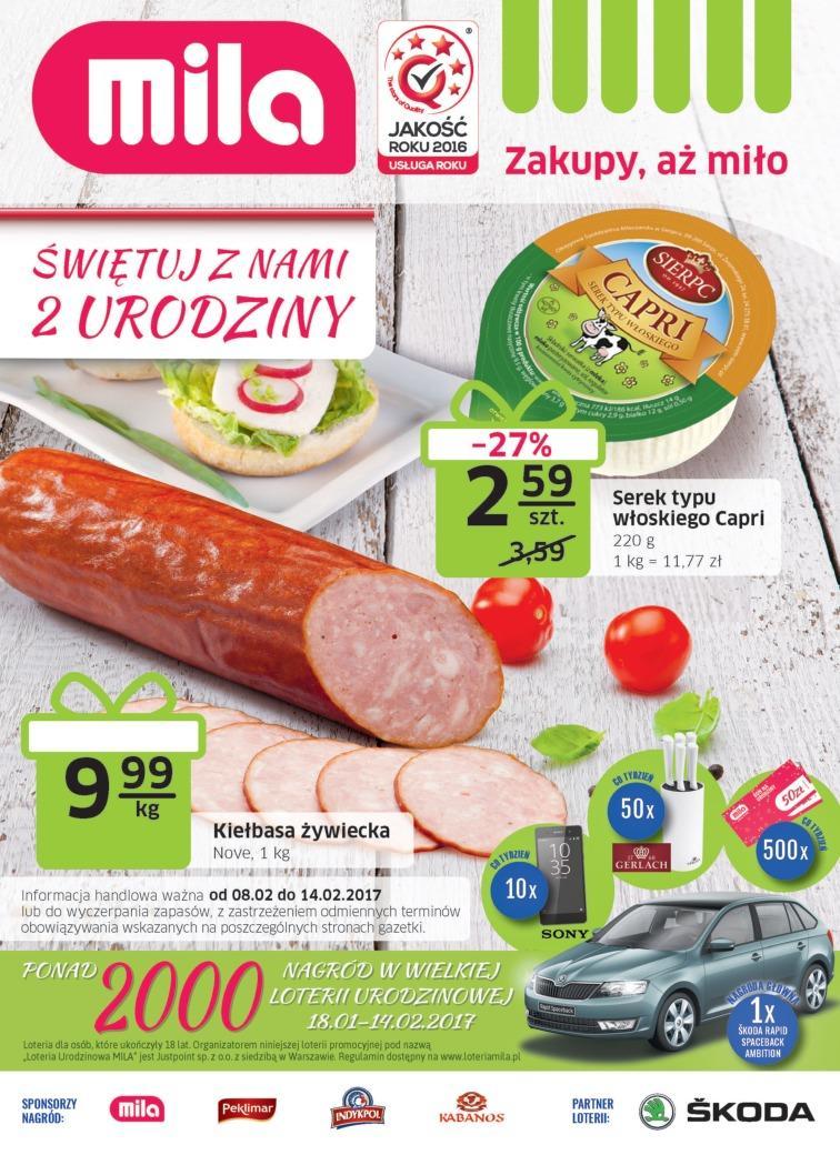 Gazetka promocyjna Mila do 14/02/2017 str.0