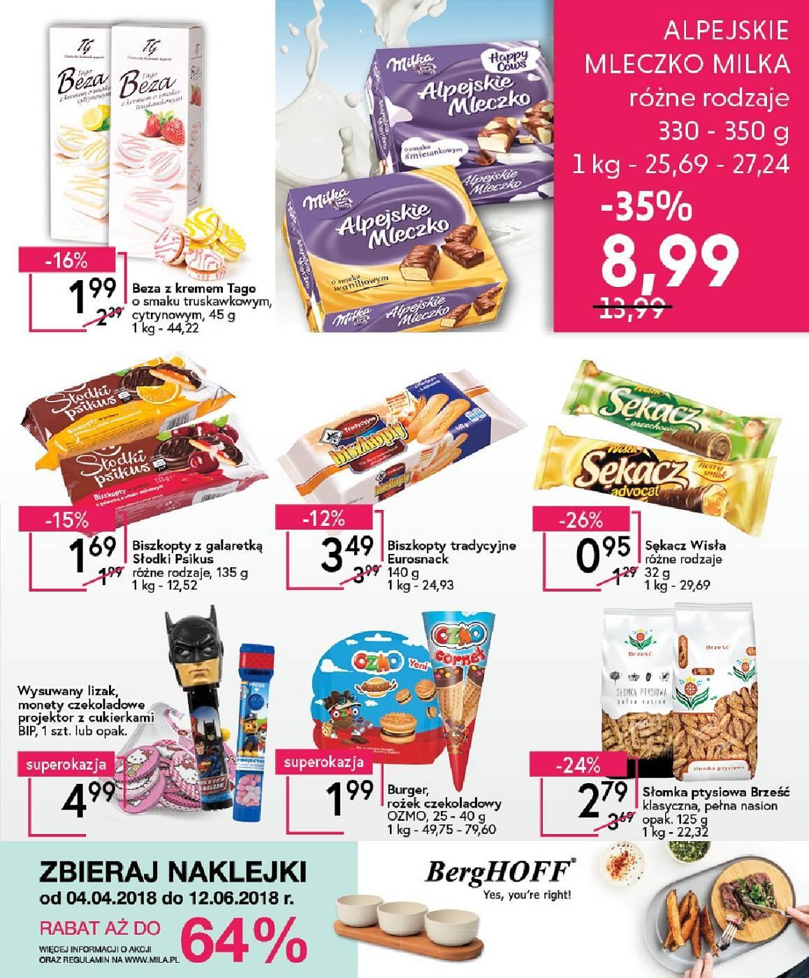 Gazetka promocyjna Mila do 08/05/2018 str.14