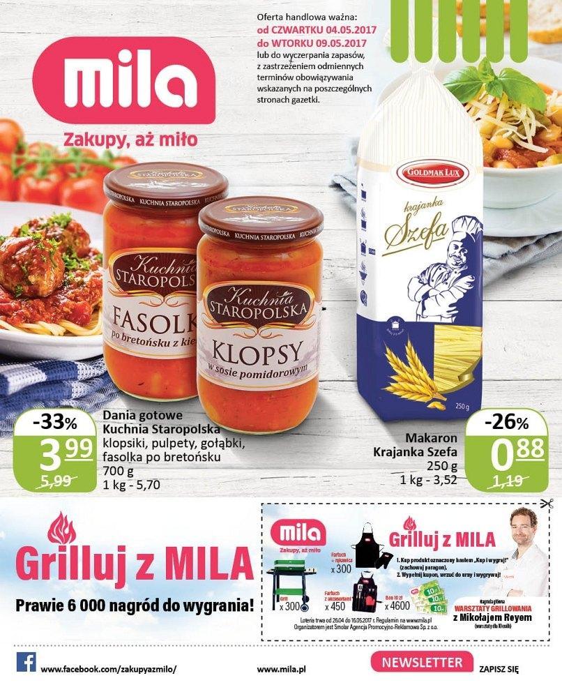 Gazetka promocyjna Mila do 09/05/2017 str.0