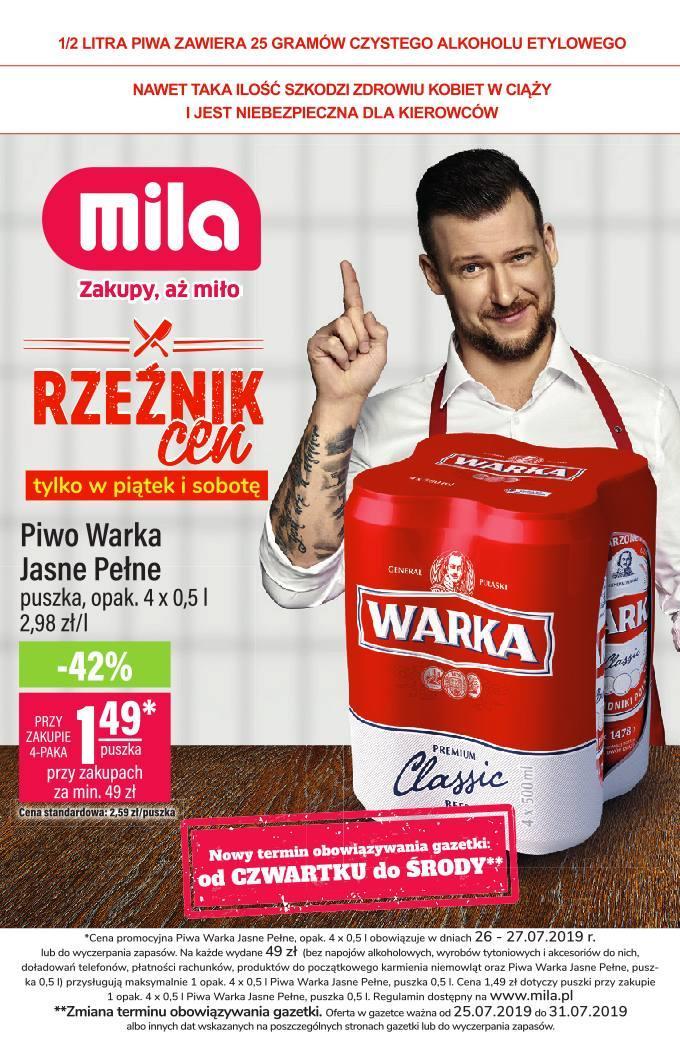 Gazetka promocyjna Mila do 31/07/2019 str.0