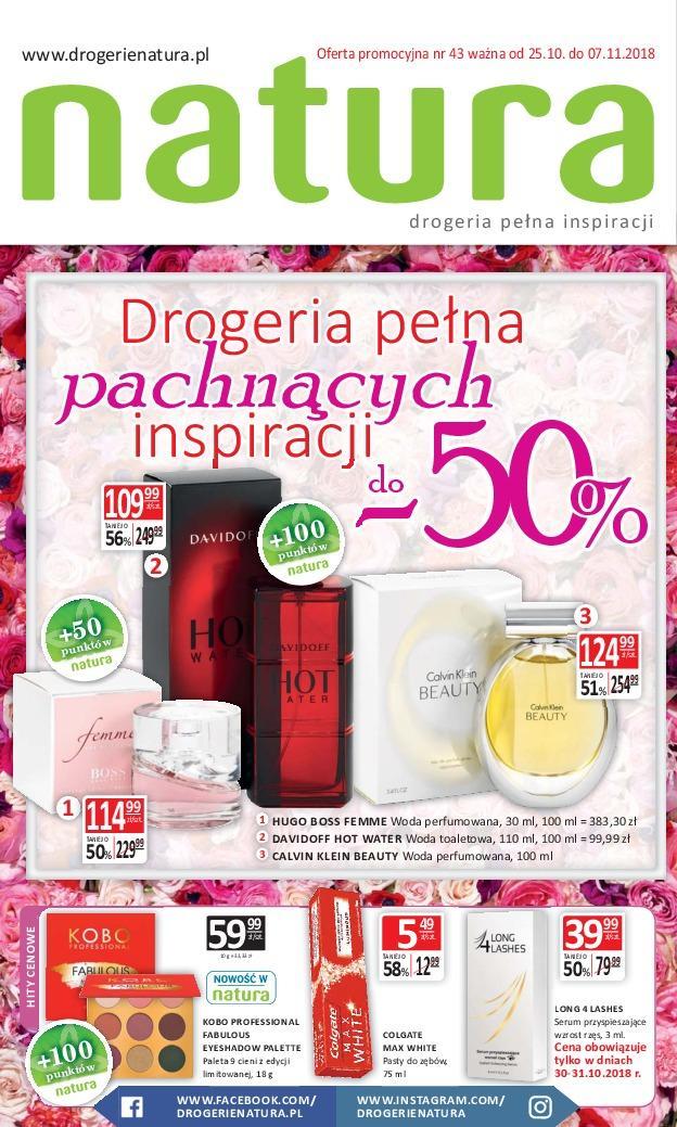 Gazetka promocyjna Drogerie Natura do 07/11/2018 str.0