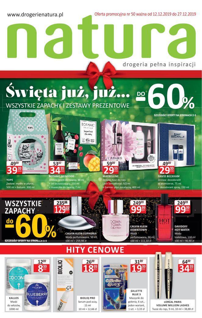 Gazetka promocyjna Drogerie Natura do 27/12/2019 str.0