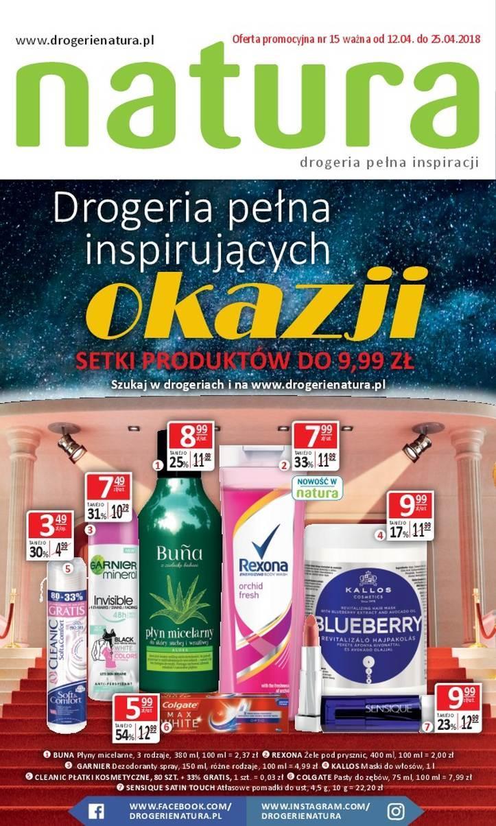 Gazetka promocyjna Drogerie Natura do 25/04/2018 str.0