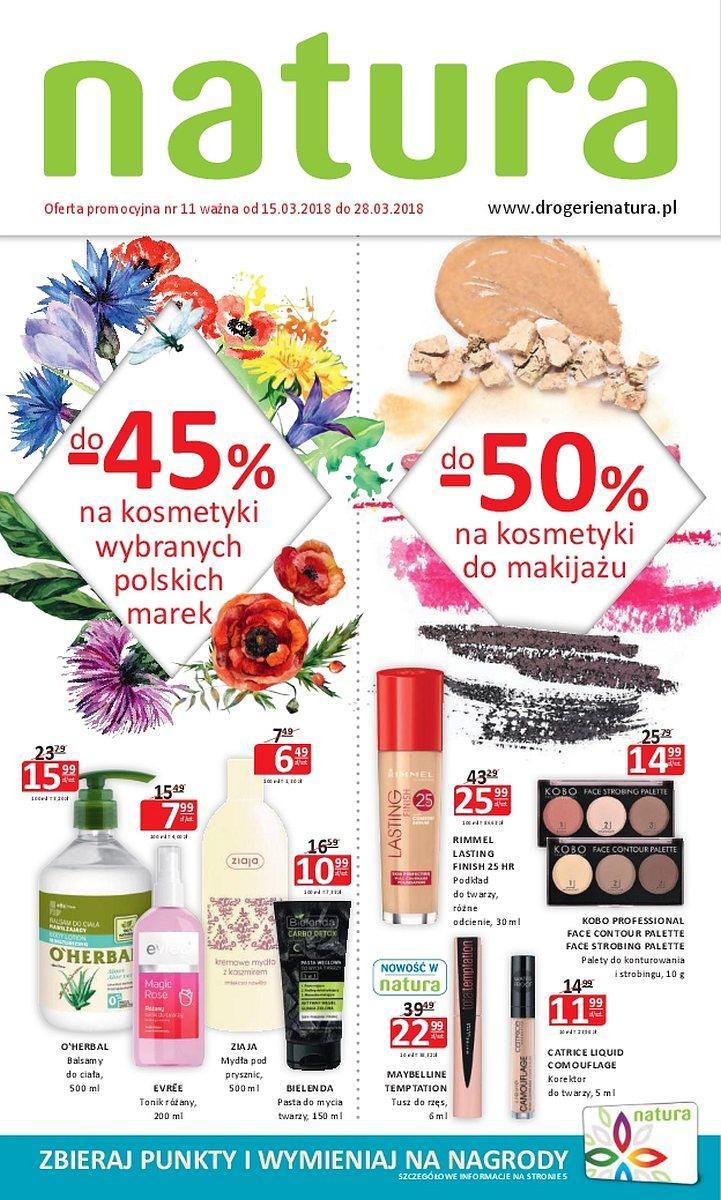 Gazetka promocyjna Drogerie Natura do 28/03/2018 str.0