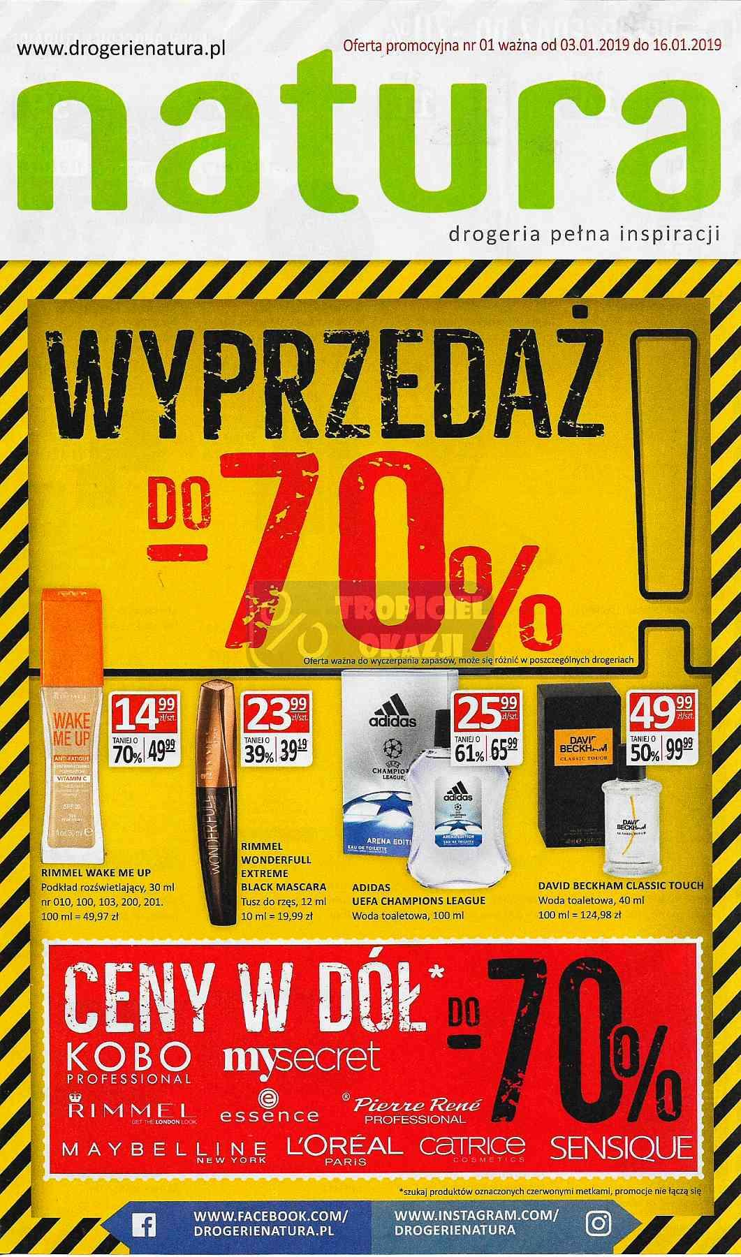 Gazetka promocyjna Drogerie Natura do 16/01/2019 str.1