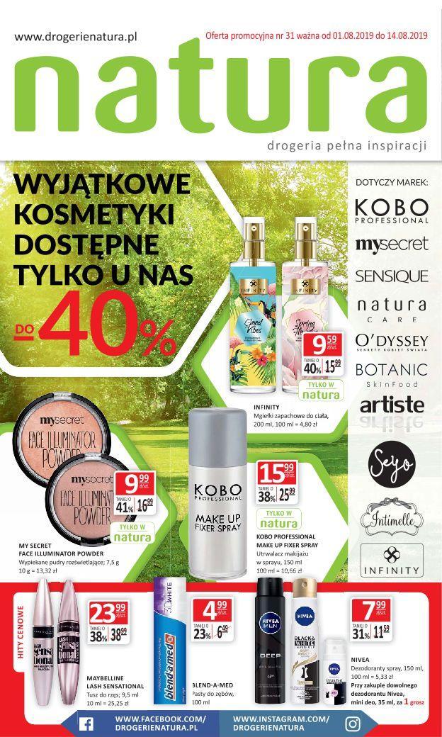 Gazetka promocyjna Drogerie Natura do 14/08/2019 str.0