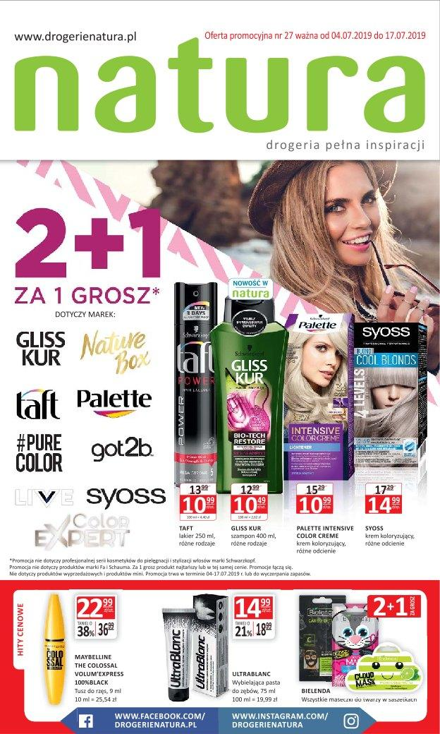 Gazetka promocyjna Drogerie Natura do 17/07/2019 str.1